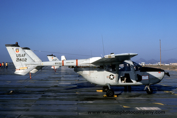 The Aviation Photo Company: O-2 Skymaster (Cessna) &emdash; USAF Cessna O-2A 67-21402 at MASDC Davis Monthan (1980)