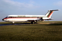Gulf Air BAC-111 A4O-BU at East Midlands (1977)
