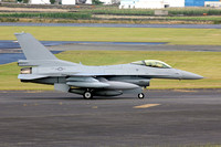 Omani AF Lockheed F-16C 830 on delivery through Lajes (2014)