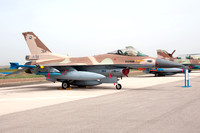Israeli AF 110 Squadron GD F-16C 384 at the Tel Nof Open Day (2014)