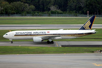 Singapore Airlines Boeing 777-200ER 9V-SVO at Singapore IAP (2015)