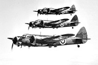 62 Squadron Bristol Blenheim I L1131 in formation Air to Air