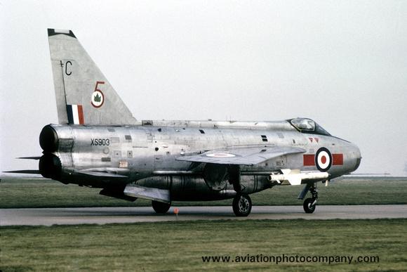 The Aviation Photo Company: 5 Squadron &emdash; RAF 5 Squadron English Electric Lightning F.6 XS903/C (1973)