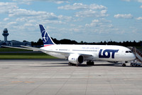 LOT Boeing 787-8 SP-LRE at Warsaw IAP (2013)