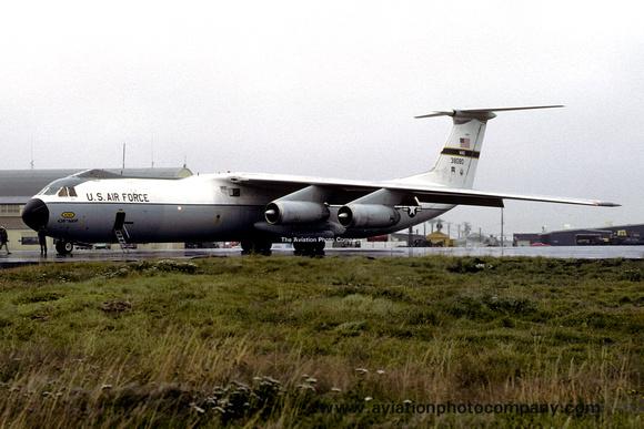 The Aviation Photo Company: C-141 Starlifter (Lockheed) &emdash; USAF 438 MAW Lockheed C-141B Starlifter 63-8080 at Keflavik (1981)