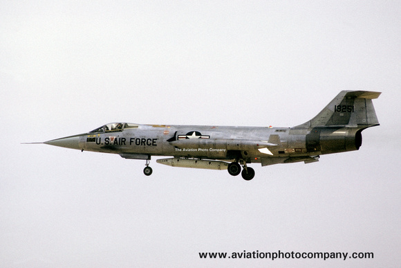 The Aviation Photo Company: Latest Additions &emdash; USAF/West German AF 58th Tactical Fighter Wing Lockheed F-104G Starfighter 63-13251 (1974)