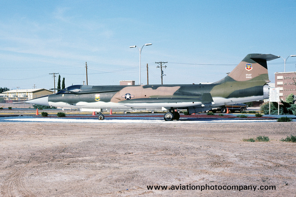 USAF Lockheed F-104C Starfighter 56-0886 displayed at Holloman AFB (1978)