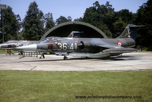 The Aviation Photo Company: Latest Additions &emdash; Italian Air Force 36 Stormo Lockheed F-104S Starfighter MM6915/36-41 (1981)