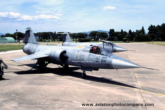 The Aviation Photo Company: Latest Additions &emdash; Italian Air Force 4 Stormo Lockheed F-104S-ASA Starfighter MM6890/4-50 (2004)