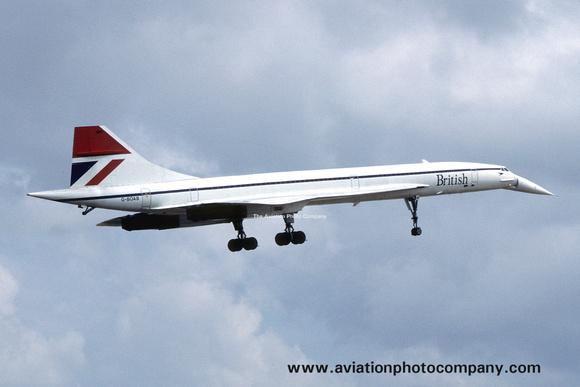 The Aviation Photo Company: Latest Additions &emdash; British Airways BAC Concorde G-BOAB (1985)