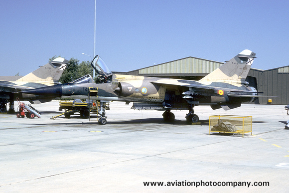The Aviation Photo Company: Latest Additions &emdash; Spanish Air Force Ala 14 Dassault Mirage F.1E C.14-21/14-21 (1988)