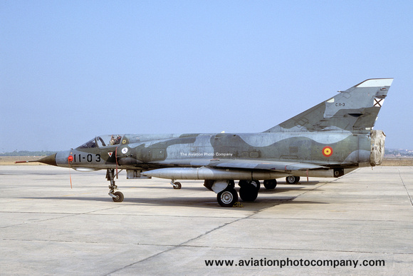 The Aviation Photo Company: Latest Additions &emdash; Spanish Air Force Ala 11 Dassault Mirage 3E C.11-3/11-03 (1988)