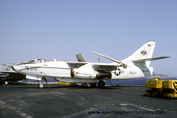 The Aviation Photo Company: A-3 Skywarrior (Douglas) &emdash; US Navy VQ-1 Douglas EA-3B Skywarrior 144854/NH-010 on board USS Enterprise (1986)