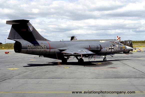 The Aviation Photo Company: Latest Additions &emdash; West German Navy MFG2 Lockheed F-104G Starfighter 21+22 (1984)