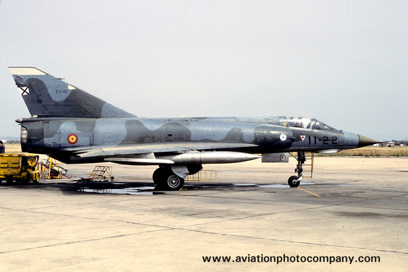 The Aviation Photo Company: Latest Additions &emdash; Spanish Air Force Ala 11 Dassault Mirage 3E C.11-22/11-22 (1988)