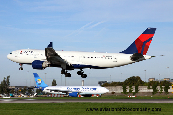 The Aviation Photo Company: Latest Additions &emdash; Delta Airlines Airbus A330-200 N859NW at Manchester (2013)