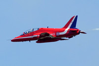 RAF Red Arrows Hawker Siddeley Hawk T.1 XX242 at the Waddington Airshow (2013)