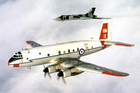 RAF SCBS Handley Page Hastings T.5 TG517 in formation with Vulcan