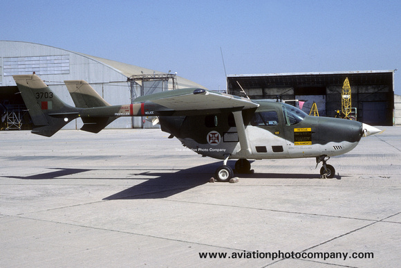 The Aviation Photo Company: O-2 Skymaster (Cessna) &emdash; Portuguese Air Force Esq 701 Cessna 337G Super Skymaster 3703 (1987)