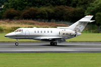 Hawker 750 M-OLLE at Prestwick (2013)