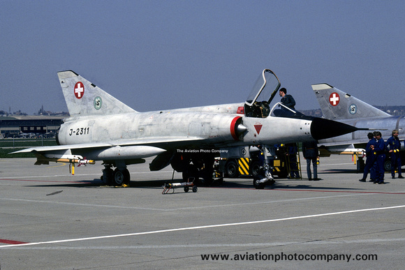 The Aviation Photo Company: Latest Additions &emdash; Swiss AF 16 St Dassault Mirage 3S J-2311 (1985)