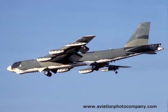 The Aviation Photo Company: B-52 Stratofortress (Boeing) &emdash; USAF 93 BW Boeing B-52G 57-6503 (1982)