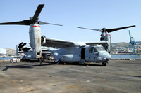 USMC VMM-365 Bell-Boeing MV-22B Osprey 167918/YM-02 on board USS New York in Marseille Harbour (2015)