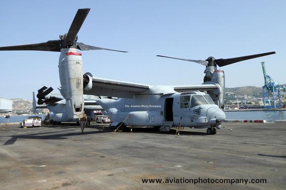 The Aviation Photo Company: Latest Additions &emdash; USMC VMM-365 Bell-Boeing MV-22B Osprey 167918/YM-02 on board USS New York in Marseille Harbour (2015)