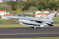 Egyptian Air Force Lockheed F-16D 9822 on delivery through Lajes (2013)