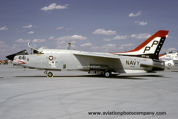 The Aviation Photo Company: F-8 Crusader (Chance/Vought) &emdash; US Navy VFP-63 Chance RF-8G 145645/PP-641 (1982)