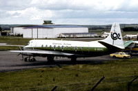 Guernsey Airlines Vickers Viscount G-BDRC at Aberdeen (1982)