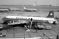 Swissair Douglas DC-6B HB-IBZ at London Heathrow