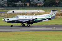 Pilatus PC-12 SP-NWM at Prestwick (2014)