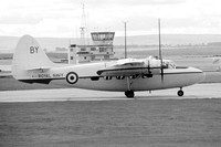 Royal Navy Brawdy Station Flight Hunting Sea Prince C.1 WF125 at RNAS Lossiemouth (1970)