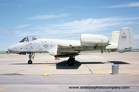 The Aviation Photo Company: Fairchild A-10 Thunderbolt &emdash; USAF 355 TFW Fairchild A-10A 75-0302/DM (1979)