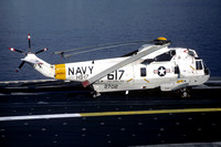 US Navy HS-17 Sikorsky SH-3D Sea King 152702/AK-617 on board USS Coral Sea (1985)