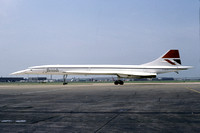 British Airways BAC Concorde G-BOAE at London Heathrow (1980)