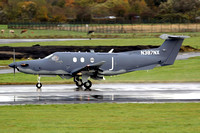 Afghan Air Force Pilatus PC-12NG N387NX on delivery through Prestwick (2013)
