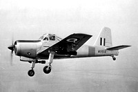 RAF Percival Provost T.1 WV614 with bombs Air to Air