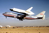 NASA Space Shuttle Enterprise onboard the Boeing 747 Shuttle Transporter NASA-905 at Edwards AFB (1977)