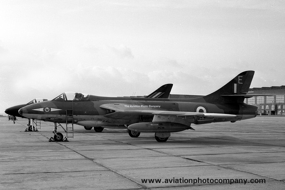 The Aviation Photo Company: Latest Additions &emdash; RAF 1 Squadron Hawker Hunter FGA.9 XE616/E at RAF Stradishall (1960)