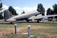 Royal Canadian Air Force Douglas C-47 Dakota KG455 displayed at Petawawa (1984)