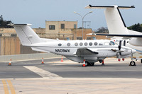 Beech King Air 200 N509MV at Malta Luqa IAP (2016)