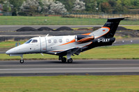 Embraer Phenom 100 D-IAAY at Prestwick (2014)