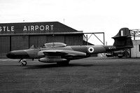 RAF 13 Group HQ Gloster Meteor NF.14 WS775 at Newcastle Woolsington (1960)