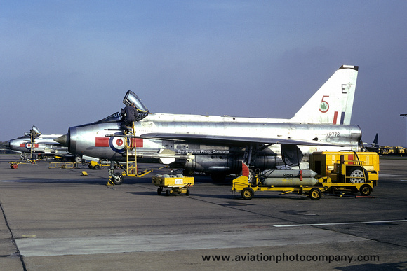 The Aviation Photo Company: 5 Squadron &emdash; RAF 5 Squadron English Electric Lightning F.6 XR772/E (1973)