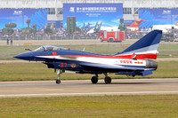 Chinese AF August 1st Team Chengdu J-10SY 07 at the Zhuhai Airshow (2014)