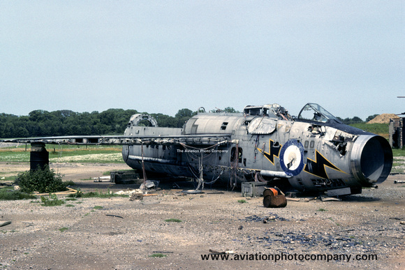 The Aviation Photo Company: English Electric Lightning &emdash; RAF English Electric Lightning F.3 XP752 dumped at Coltishall (1979)