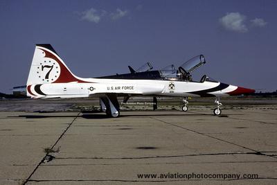 the aviation photo company northrop t 38 talon usaf thunderbirds northrop t 38a 7 1977. Black Bedroom Furniture Sets. Home Design Ideas