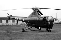 Royal Navy Westland Dragonfly HR.3 WG719 at the Rotorcraft Museum (1978)